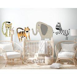 Óriás Környezetbarát falmatrica Szafari Elefánt