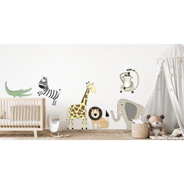 Óriás gyerek- és környezetbarát falmatrica-Szafari zsiráf