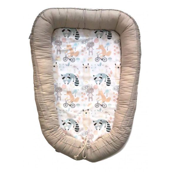 Pasztell babafészek 100% pamut/ Beige